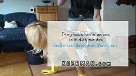 Alman hizmetçiyi sike sike çalıştırıyor